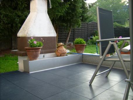 terrasse mit bergo typ elite neu gestalten. Black Bedroom Furniture Sets. Home Design Ideas