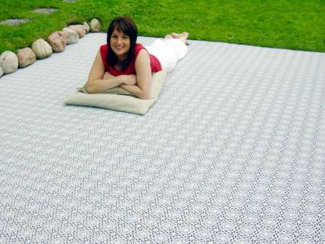 Häufig Terrassenboden aus witterungsbeständigen Kunststoffplatten GR99