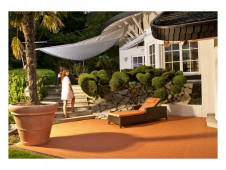 Terrassenboden Aus Witterungsbeständigen Kunststoffplatten