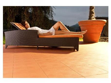 Terrassen mit Boden aus Kunststoff